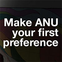 Make ANU your first preference