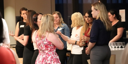 Networking at previous Code Like a Girl event.