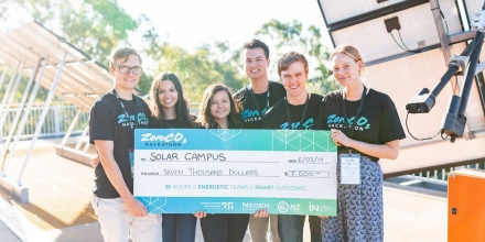 A team of six CECS students won the ZeroCO2 Hackathon.