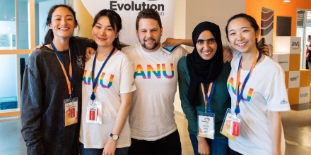 ANU Students at Hackathon 2018
