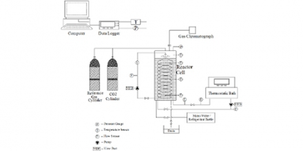 Fig. 1. CO2 hydrate equilibrium testing system.