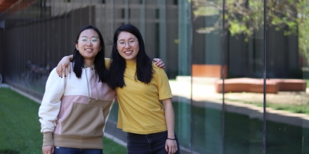 Computer Science internship students Chu Tang and Yuan Chen