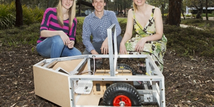 Engineering students win Innovation Award for their robotic vehicle