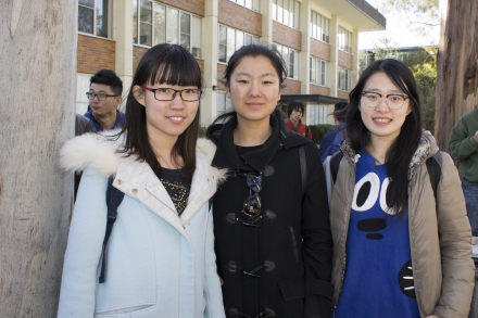 Students from partner universities