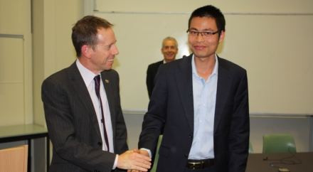 ACT Minister for Climate Change and Sustainability, Mr Shane Rattenbury and The Duong