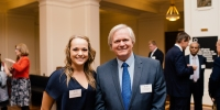 Rebecca Watts with Vice-Chancellor and Nobel Laureate, Professor Brian Schmidt AC.