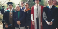 Adam Hassan & his father, Iven Mareels, Darrell Williamson, Michael Green and Terry Cleary - Engineering Graduation 1994