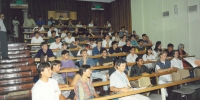 Some engineering staff and students during O-Week in 1994