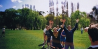 Rugby match at Willows Oval during Engineering Week 1993
