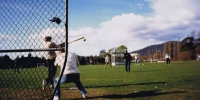 ANU Engineering Students V staff Softball Match on Willows Oval June 1992