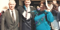 Terry Cleary and his parents - ANU Engineering Graduation 1994