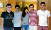 A group of five engineering students