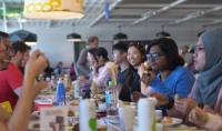Students having lunch at IKEA