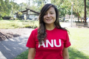 ANU Student on campus Andrea Bedon Pineda